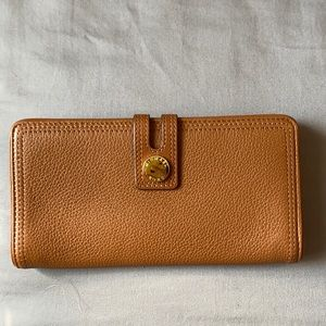 Michael Kors Brown harness luggage Leather Wallet
